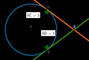 triangles rectangles a partir de circumferència i trectes tangents